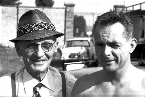 Витторио Яно с Филом Хиллом на Гран При Бельгии 1962 года