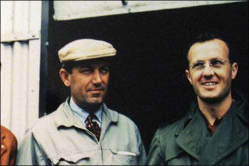 Аурелио Лампреди (слева) и менеджер Ferrari Ромоло Тавони