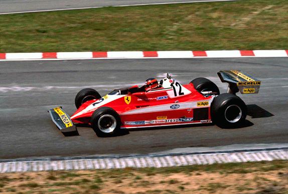 Жиль Вильнёв на Гран При Германии 1978 года. Фото Ferrari