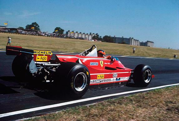 Жиль Вильнёв на Гран При Аргентины 1980 года. Фото Ferrari