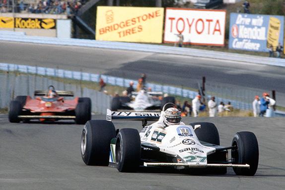 Алан Джонс и Жиль Вильнёв на Гран При США 1980 года