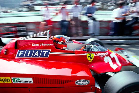 Жиль Вильнёв на Гран При Австрии 1981 года. Фото Ferrari