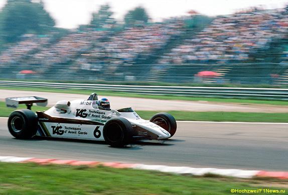 Кеке Росберг на Гран При Италии 1982 года