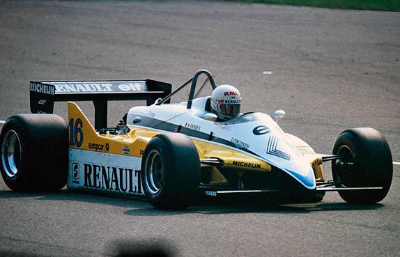 Рене Арну на Гран При Италии 1982 года. Фото Renault Sport