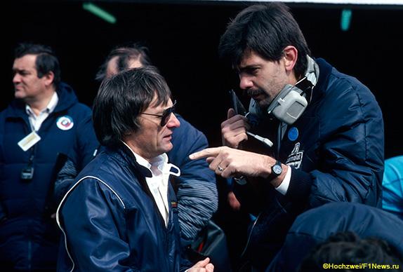 Берни Экклстоун и конструктор Brabham Гордон Марри на Гран При Нидерландов 1982 года