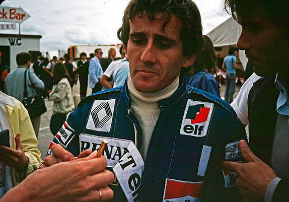 Ален Прост после финиша Гран При Швейцарии 1982 года