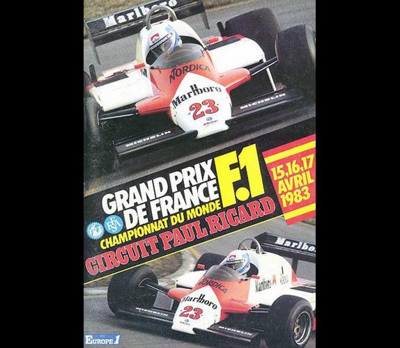 Афиша Гран При Франции 1983 года