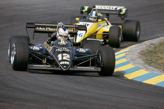 Найджел Мэнселл и Дерек Уорик на Гран При Бразилии 1984 года