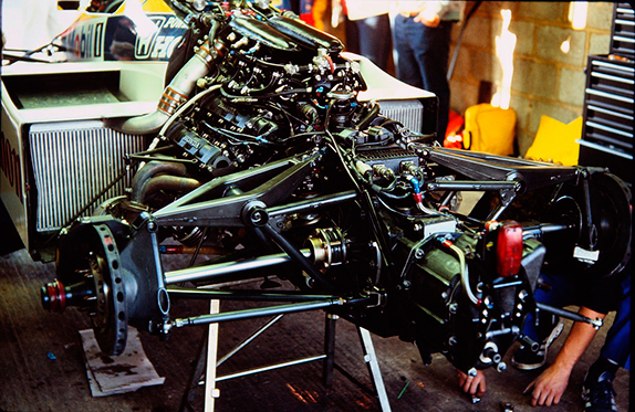 Двигатель Honda на Williams - один из самых мощных в 1985 году