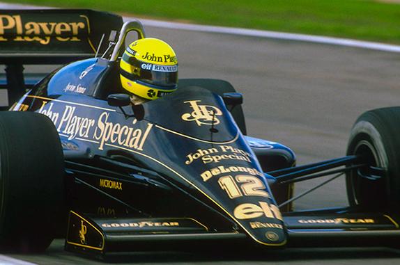 Айртон Сенна на Гран При Португалии 1986 года