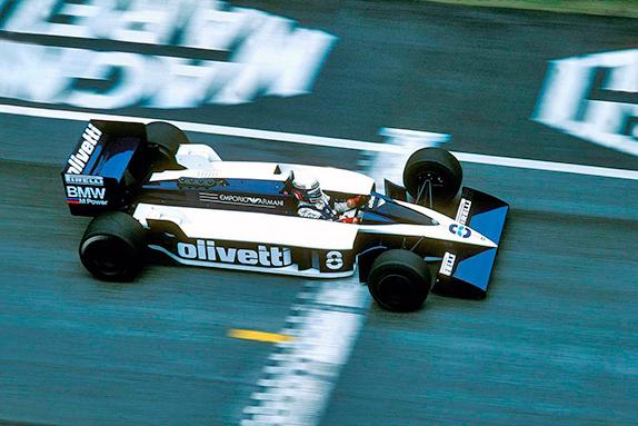 Элио де Анжелис на Brabham