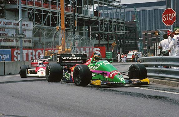 Тьерри Бутсен и Ален Прост на Гран При Детройта 1987 года