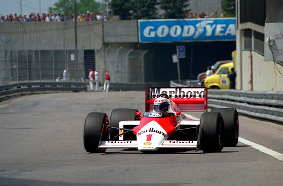 Ален Прост на Гран При Детройта 1987 года