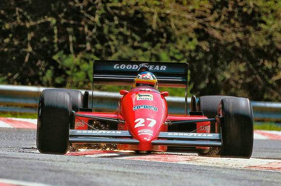 Микеле Альборето, 1987 год. Фото Ferrari
