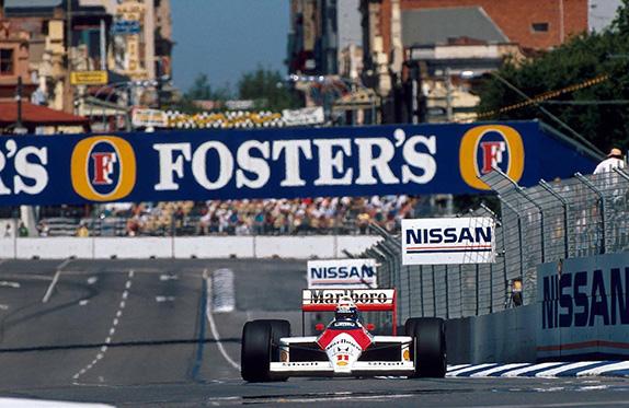 Ален Прост на Гран При Австралии 1988 года. Фото Adelaide GP