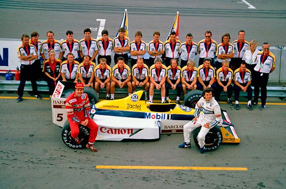 Прощальное фото команды Williams на Гран При Австралии 1988 года. Фото Williams