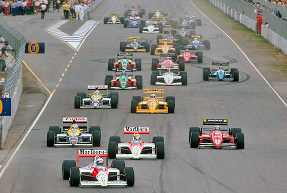 Старт Гран При Австралии 1988 года. Фото McLaren