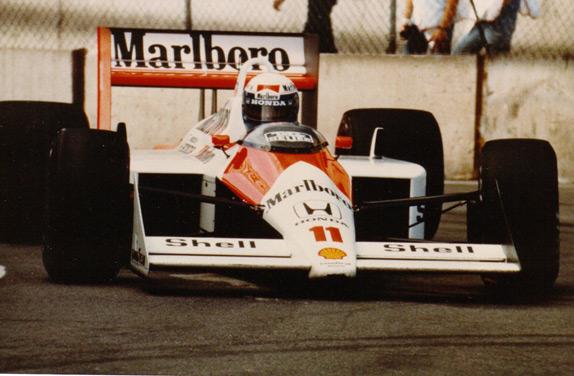 Ален Прост на Гран При Детройта 1988 года. Фото McLaren