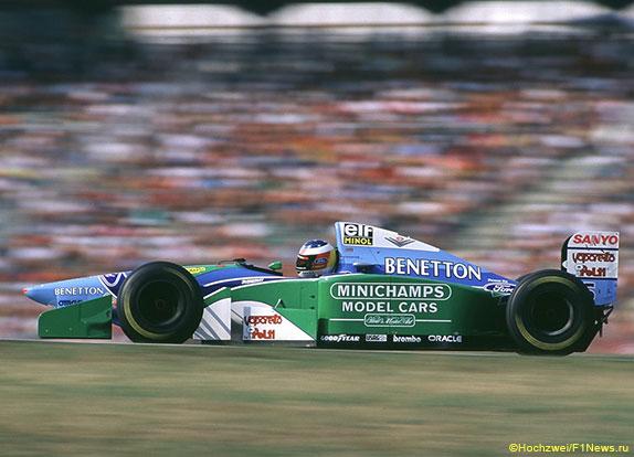 Михаэль Шумахер за рулём Benetton, 1994 год