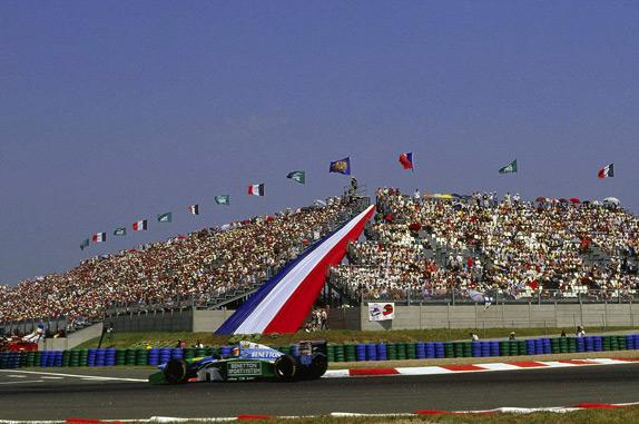 Михаэль Шумахер на Гран При Франции 1994 года