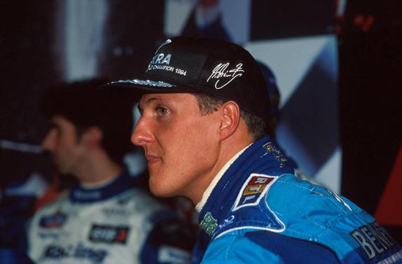 Деймон Хилл и Михаэль Шумахер на Гран При Европы 1995 года