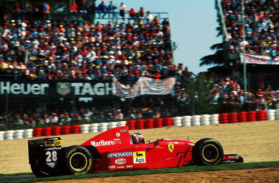 Герхард Бергер на Гран При Сан-Марино 1995 года