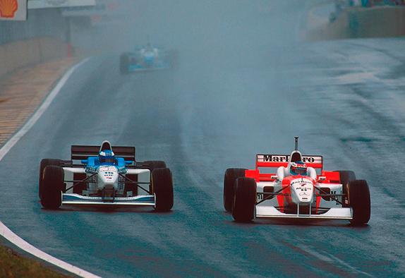 Мика Сало и Мика Хаккинен на Гран При Бразилии 1996 года