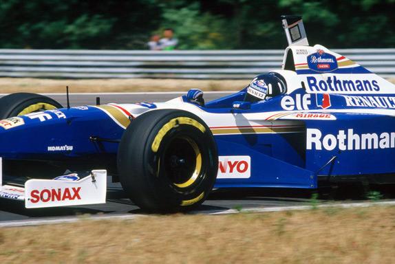 Деймон Хилл на Гран При Венгрии 1996 года. Фото Williams