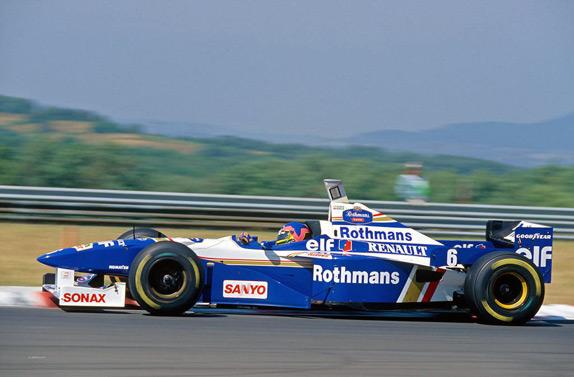 Жак Вильнёв на Гран При Венгрии 1996 года. Фото Williams