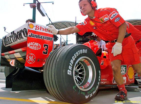 Машина Михаэля Шумахера на Гран При Венгрии 2000 года