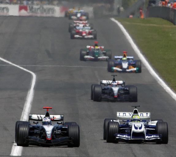 Дэвид Култхард и Ральф Шумахер на Гран При Испании 2004 года
