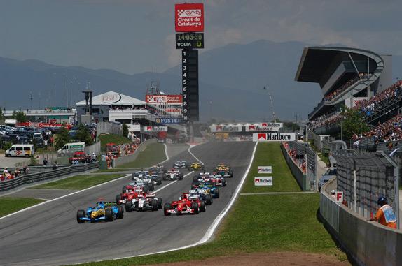 Старт Гран При Испании 2004 года