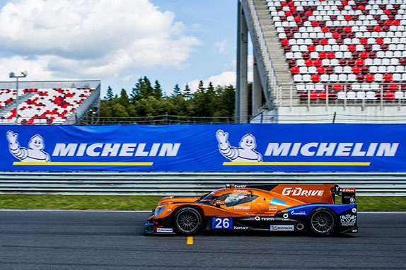 Показательные заезды Романа Русинова на спортпрототипе класса LMP2 команды G-Drive