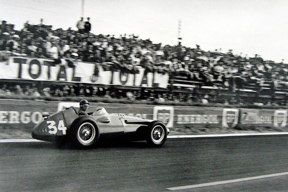 Хуан-Мануэль Фанхио на Гран При Франции 1958 года, ставшим для него последним