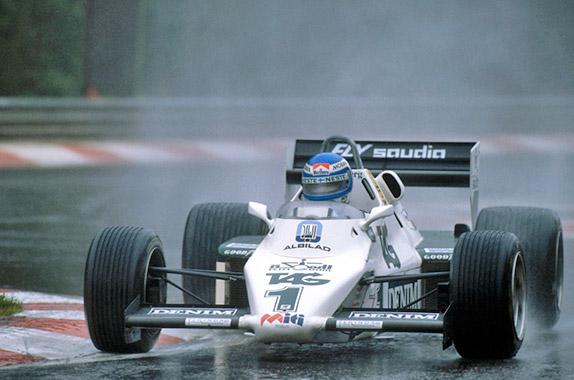 Кеке Росберг на квалификации Гран При Бельгии 1983 года