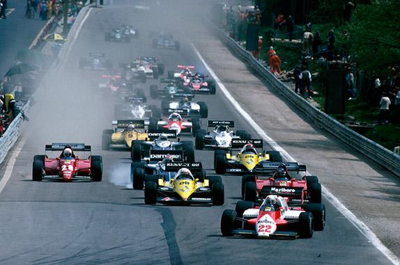 Старт Гран При Бельгии 1983 года