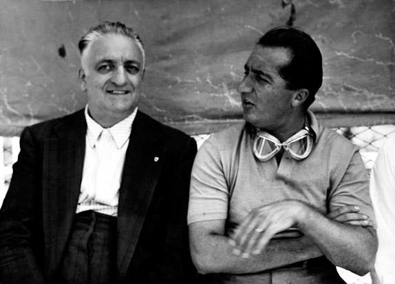 Энцо Феррари и Альберто Аскари
