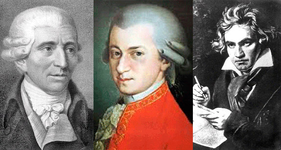 Три гения классической венской музыкальной школы: Гайдн, Моцарт и Бетховен