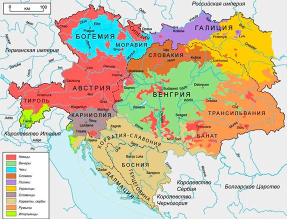 Карта Австро-Венгерской империи