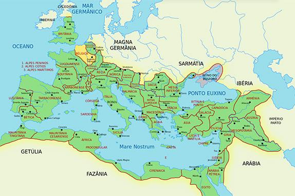 Римская Империя 117 года и провинция Белгика