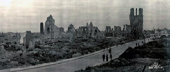 Город Ипр после окончания Первой мировой войны