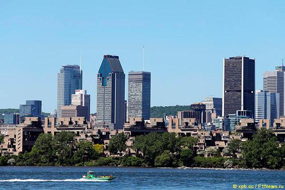 Вид на Монреаль с острова Нотр-Дам
