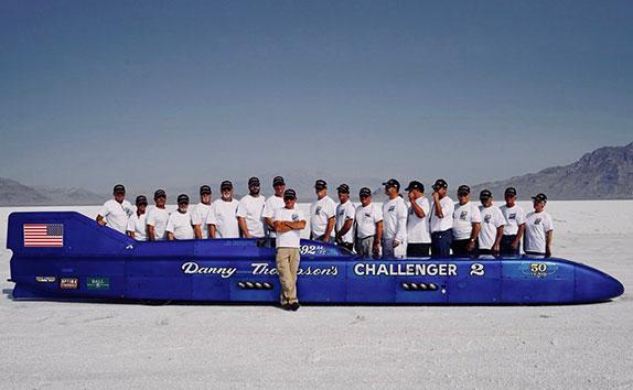 Команда, помогавшая Томпсону-младшему установить новый рекорд скорости