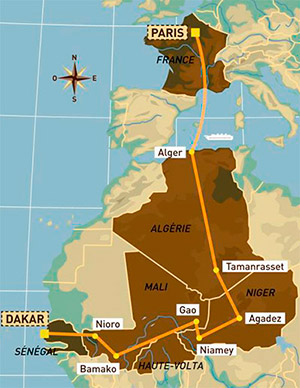 Маршрут первого ралли-рейда Париж-Дакар 1979 года