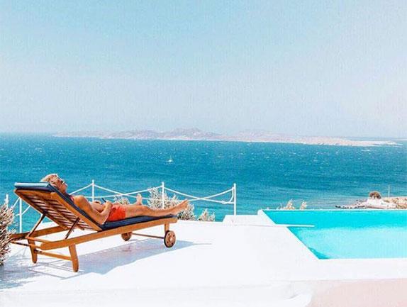 Маркус Эриксон при всём богатстве выбора тоже предпочёл отдых на Миконосе