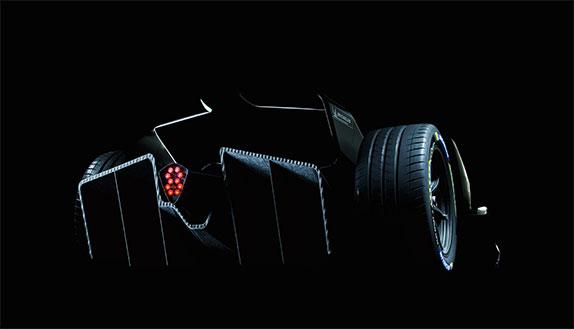 Задняя часть новой машины Формулы E
