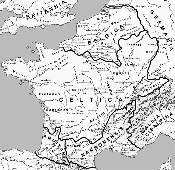 Галлия (Франция) в I веке до н.э., и прообраз современного Прованса - Narbonensis