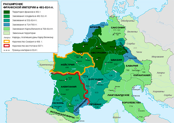 Расширение владений франков в первом тысячелетии