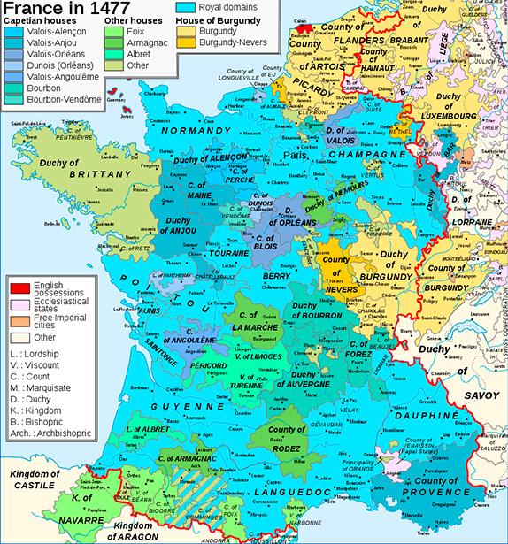 Феодальное дробление Франции в XV веке