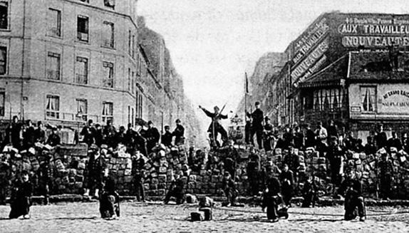Баррикады во время «Парижской Коммуны»